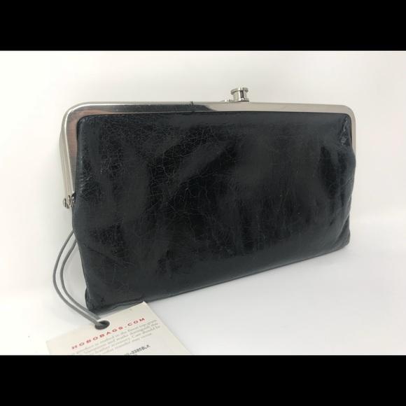 Hobo Bags New Double Frame Lauren Black Wallet Poshmark